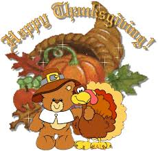Happy Thanksgiving teddy and turkey