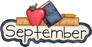 sept with book and apple